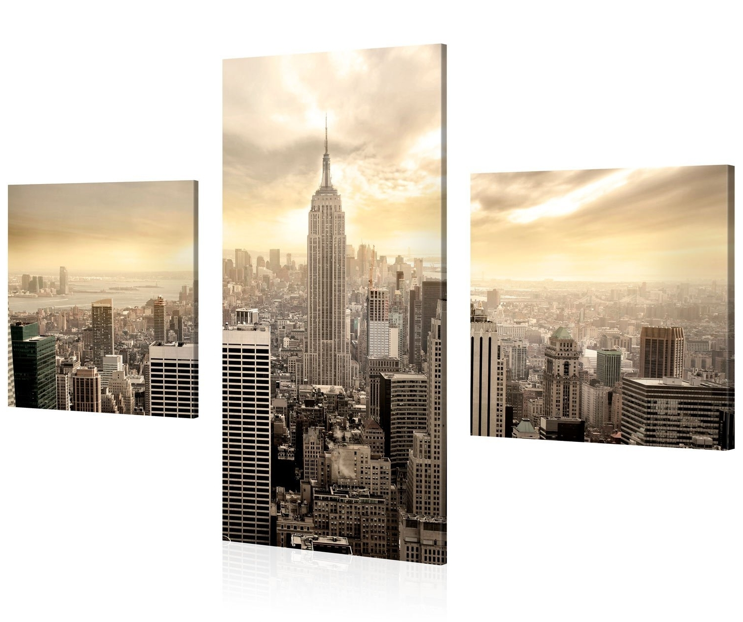Widely Used Cityscape Canvas Wall Art With Amazon: Large Canvas Print Wall Art – Empire State Building (View 9 of 15)