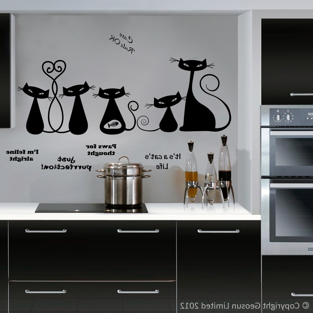 Widely Used Cool Kitchen Wall Art For Cool Cats – Wall Decal Art Stickers Lounge Living Room Kitchen (View 8 of 15)