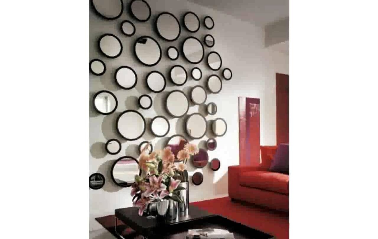 Widely Used Decorative Wall Mirror Tiles – Youtube For Mirror Circles Wall Art (View 11 of 15)