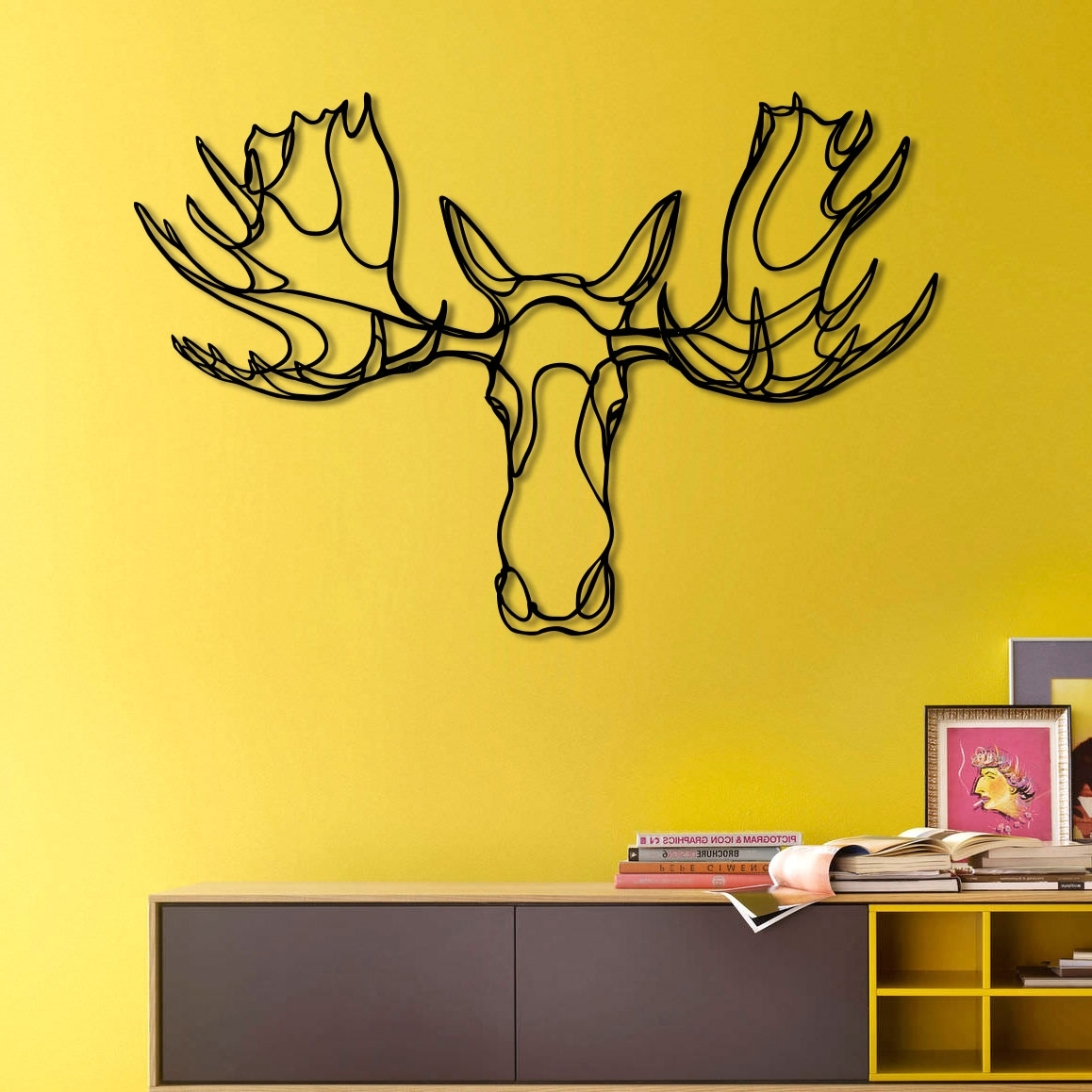 Widely Used Design Sign Moose Head Trophy Animal Wall Arttes Ted In Animal Wall Art (View 14 of 15)