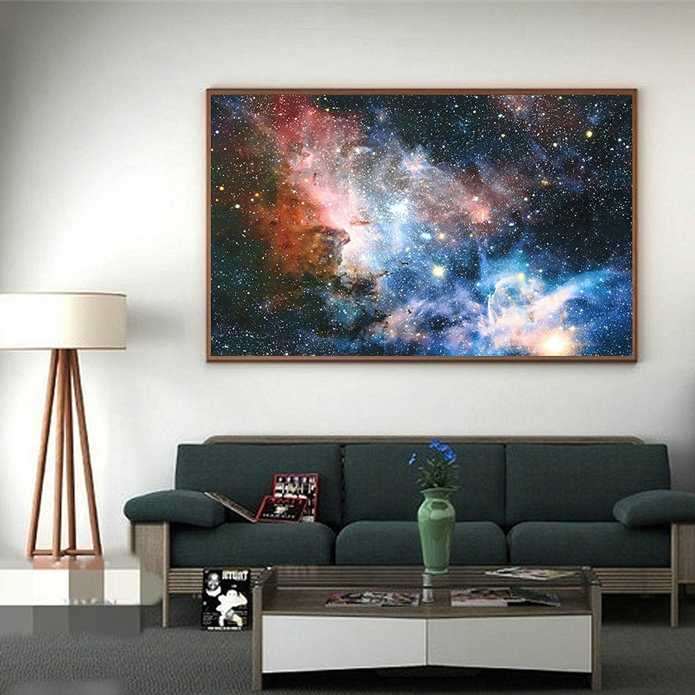 Widely Used Exotic Wall Art In Unframed Galaxy Universe Planet Picture Decor Painting Wall Art (View 3 of 15)
