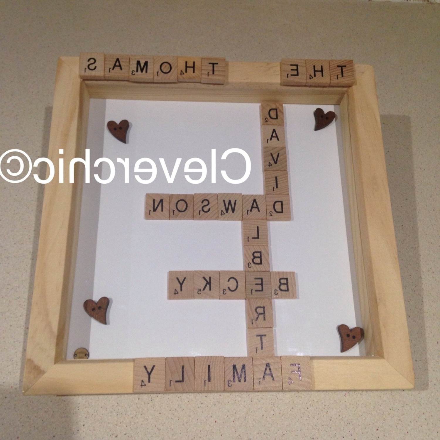 Widely Used Family Surname Scrabble Art Frame, Family Names Frame, Scrabble With Scrabble Names Wall Art (View 15 of 15)