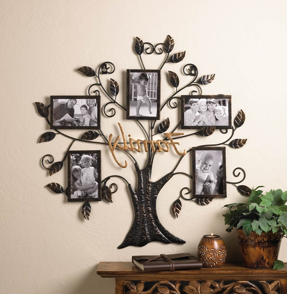 Widely Used Family Wall Art Picture Frames Inside Family Tree Hanging Picture Frame Wall Decor – Eonshoppee (View 9 of 15)