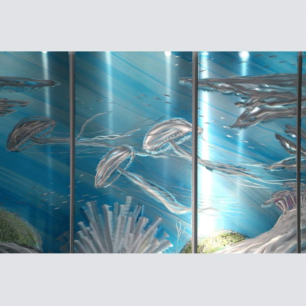 Widely Used Fused Glass Fish Wall Art Pertaining To Wall Arts ~ Glass Fish Wall Art Glass Fish Shoal Wall Art Deep (View 8 of 15)