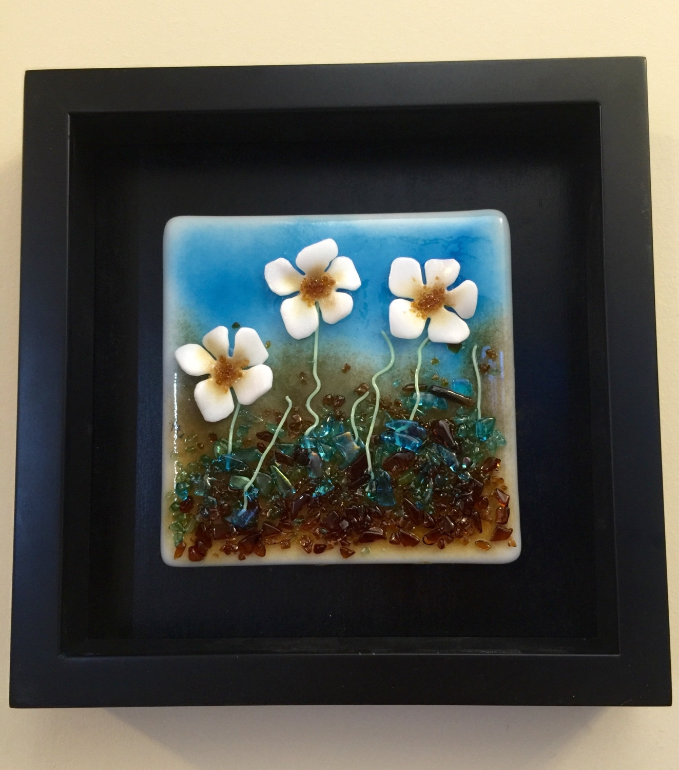 Widely Used Fused Glass Flower Wall Art Throughout Home Decor, Fused Glass, Handmade Fused Glass, Wall Panel, Fused (View 9 of 15)
