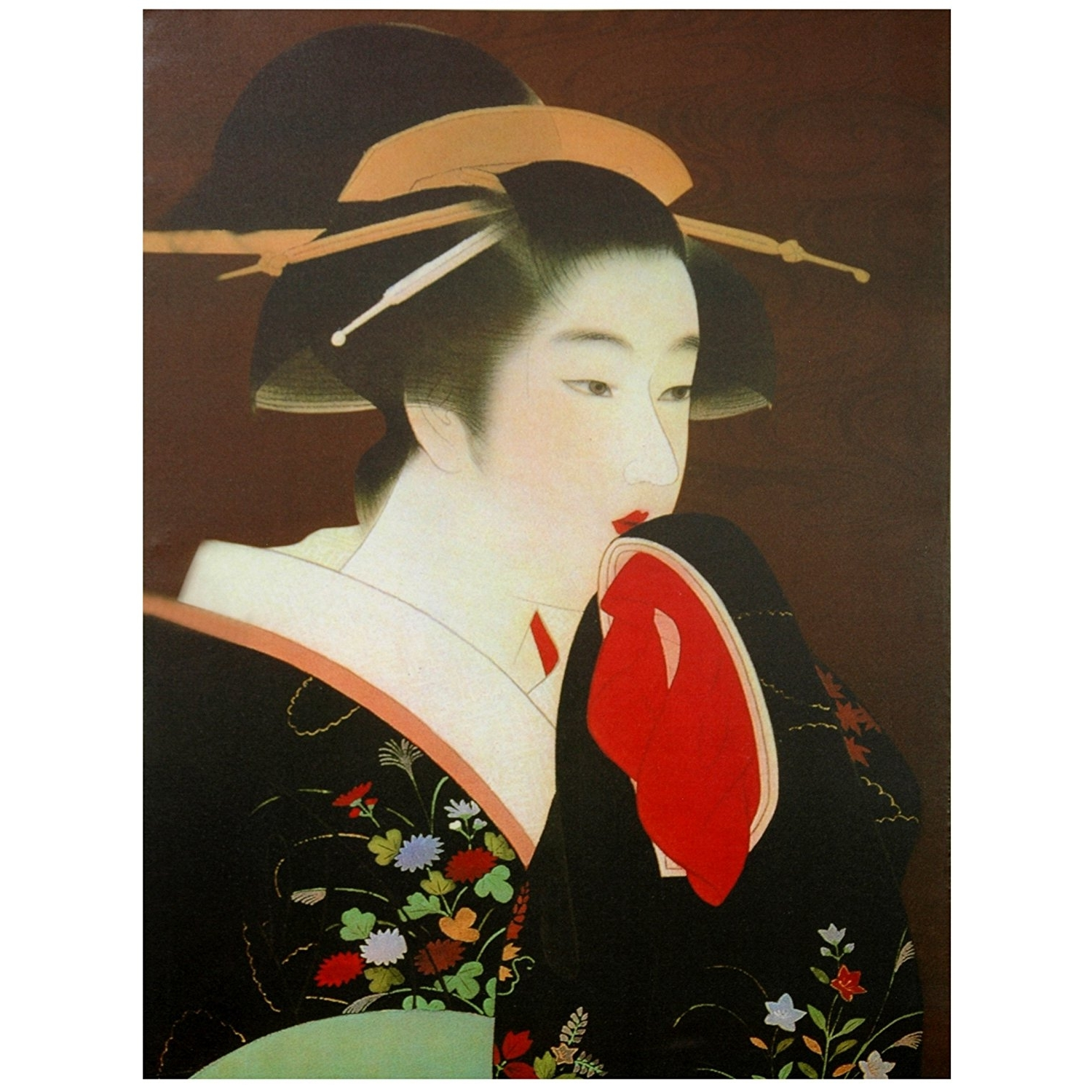 Widely Used Geisha Canvas Wall Art For Amazon: Oriental Furniture Geisha Canvas Wall Art: Christmas (View 14 of 15)