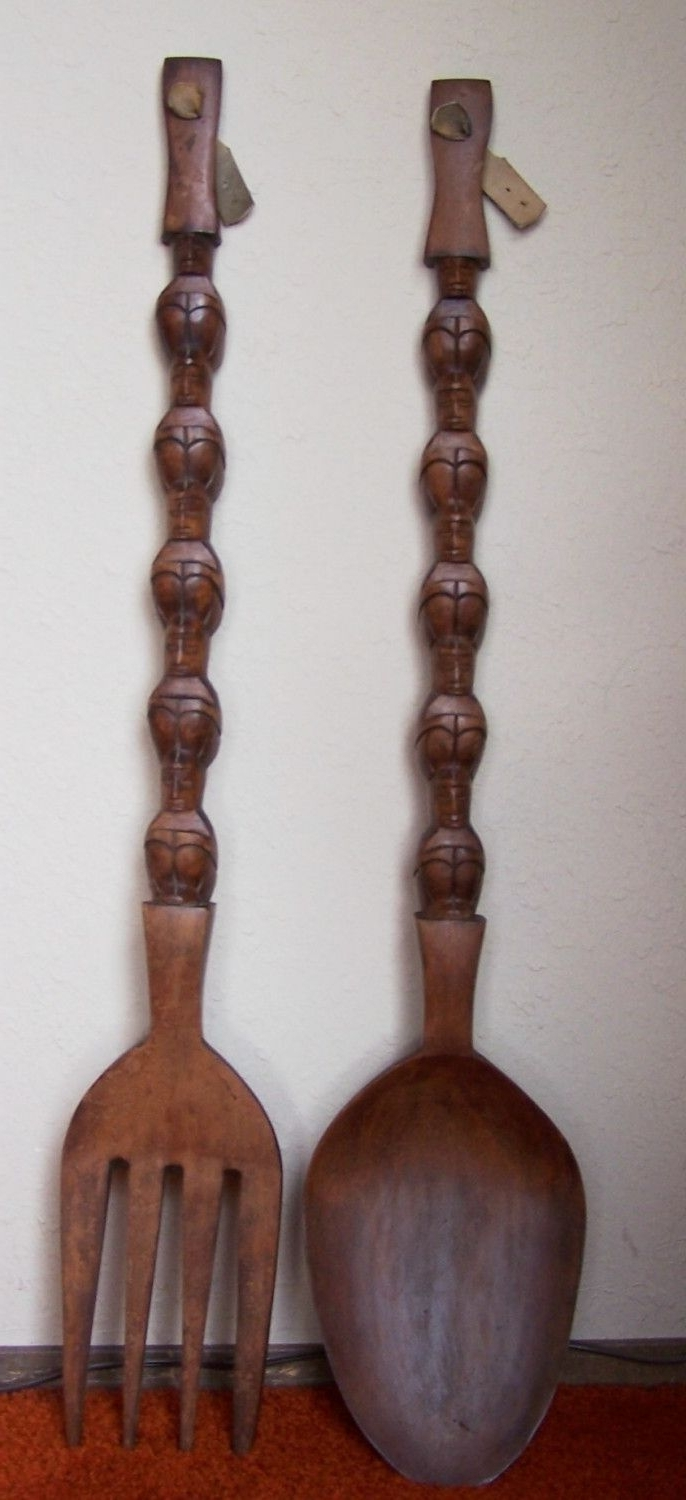 Widely Used Giant Fork And Spoon We Have These, I Grew Up W/ Them In Our In Wooden Fork And Spoon Wall Art (View 11 of 15)