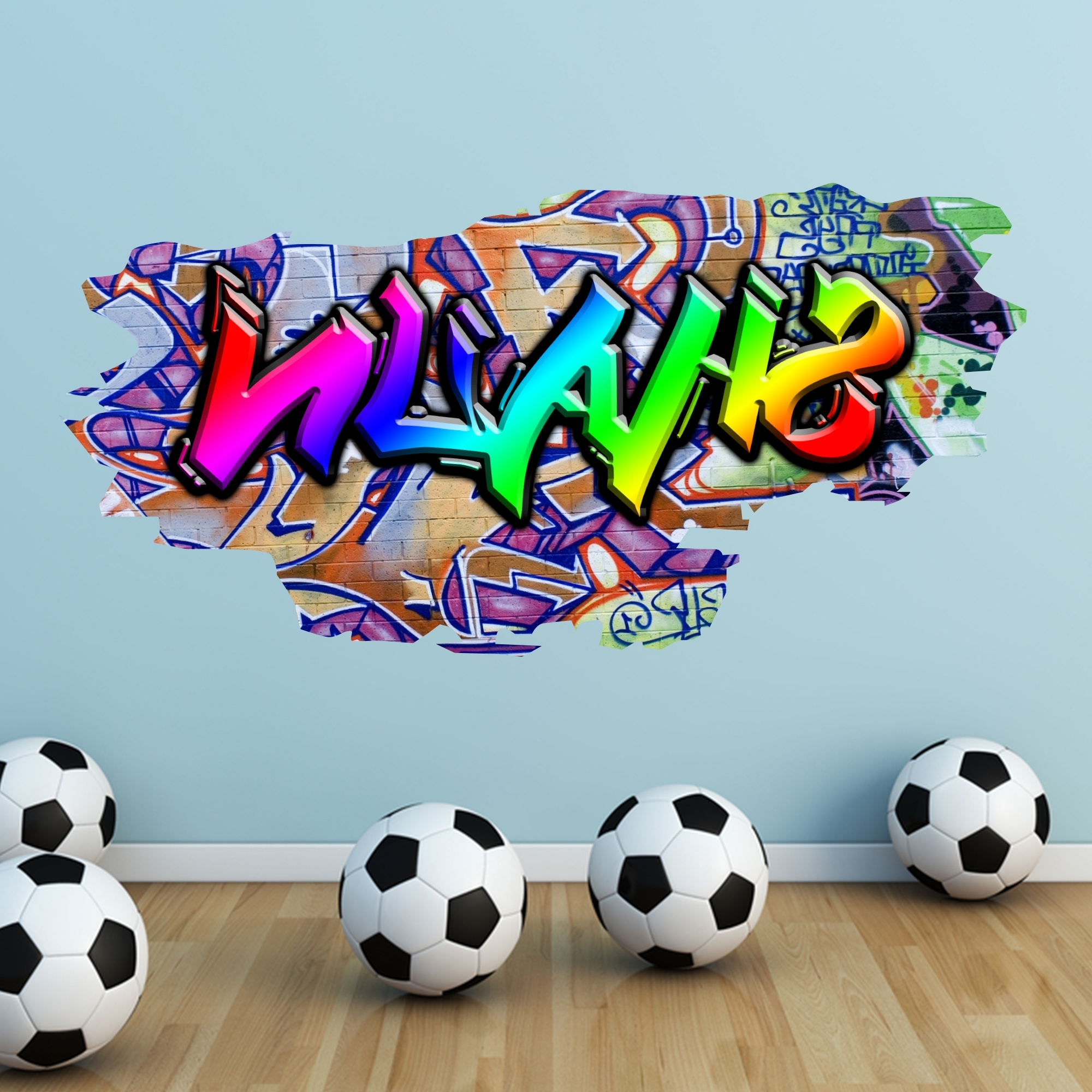 Widely Used Graffiti Wall Art Stickers For Personalised Graffiti Wall Stickers Australia – Neon Uv (View 15 of 15)