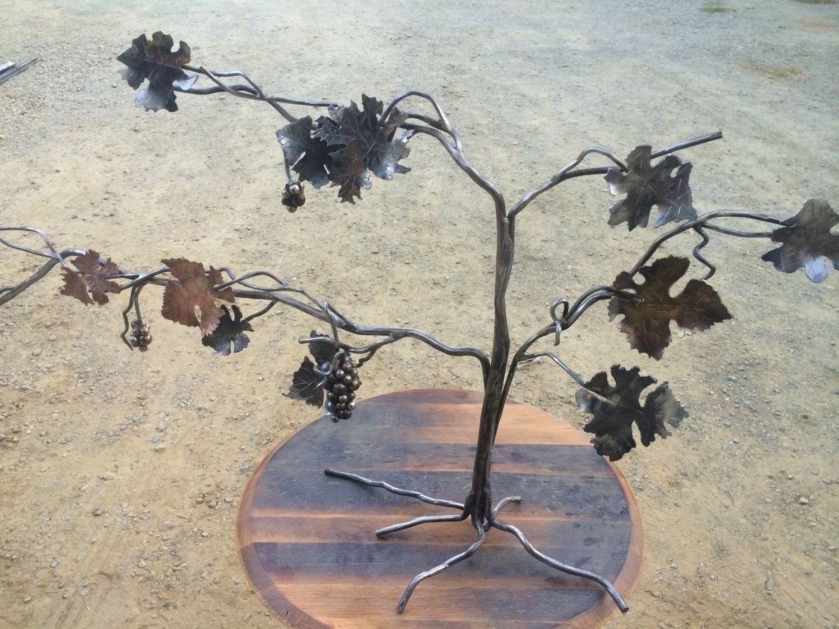 Widely Used Grape Vine Wall Art For Custom Copper, Steel, Brass Forged Grapevine Sculpturenapa (View 8 of 15)