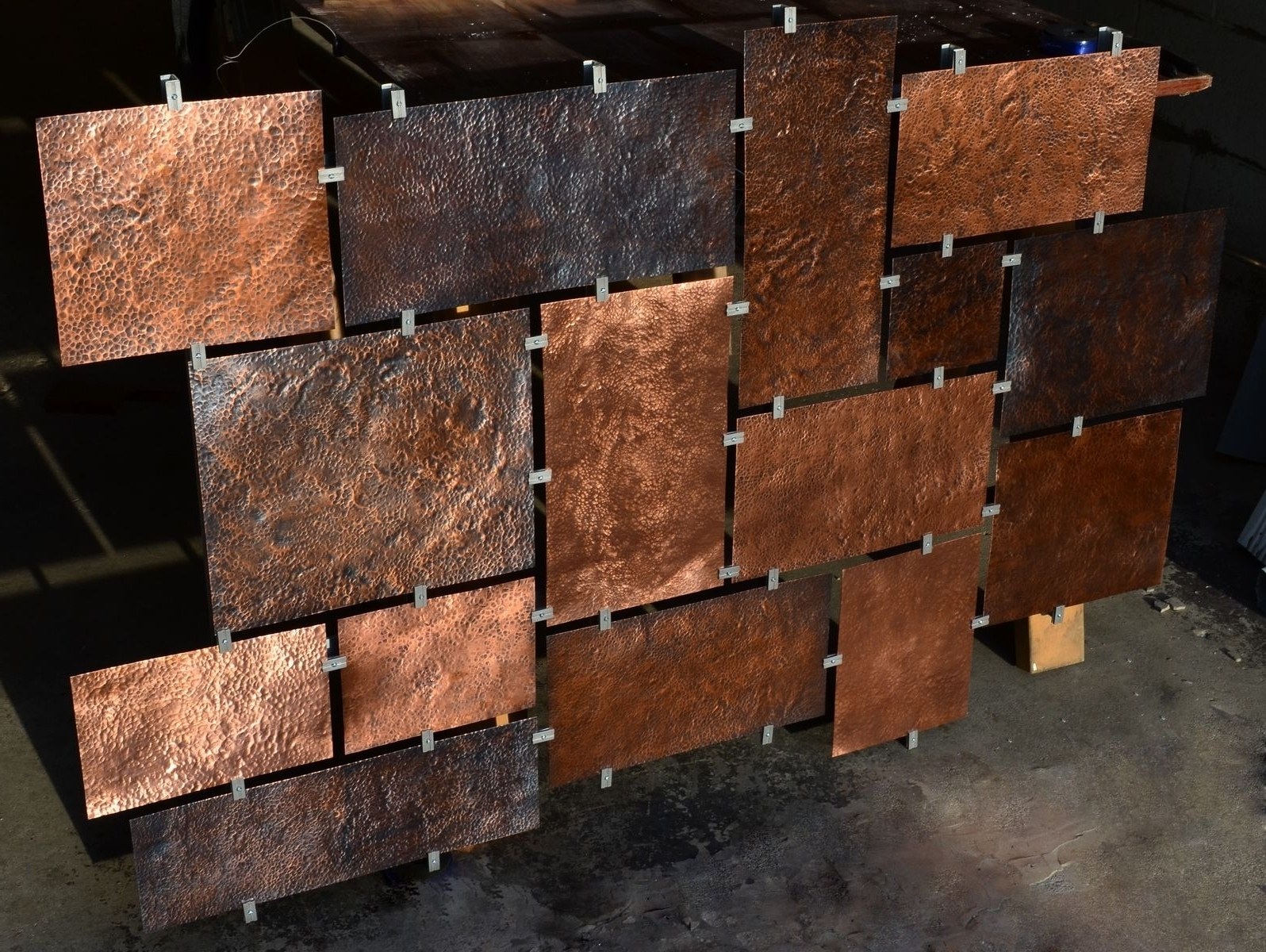 Widely Used Hammered Metal Wall Art Intended For Hand Made Custom Hammered Copper Wall Artfabitecture (View 14 of 15)