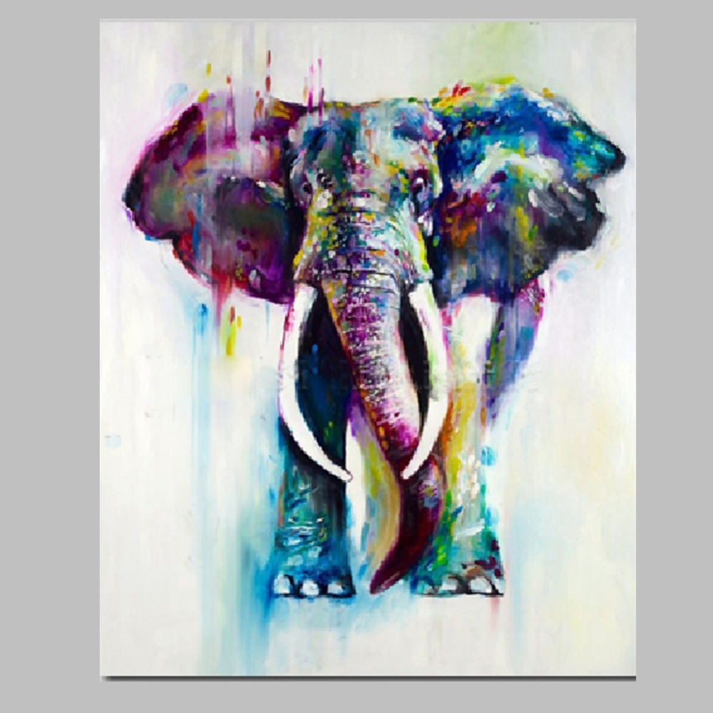 Widely Used Iarts Canvas Wall Art Painting Christmas Gift Hand Painted Intended For Abstract Elephant Wall Art (View 7 of 15)