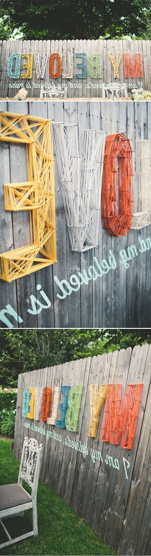 Widely Used Incredible Diy Garden Fence Wall Art Ideas Regarding Diy Garden Wall Art (View 15 of 15)