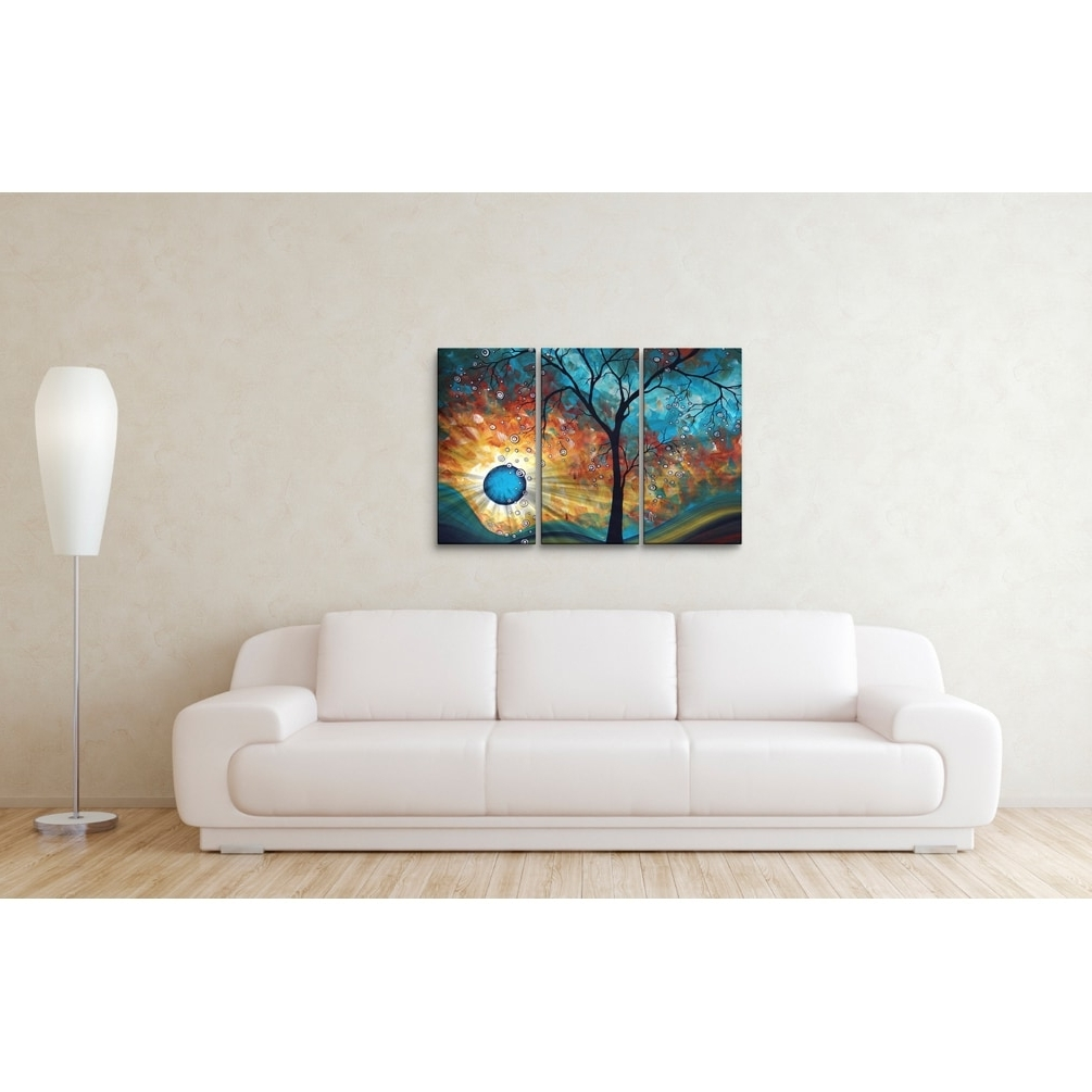 Widely Used Megan Duncanson Metal Wall Art Pertaining To Megan Duncanson 'aqua Burn' Metal Wall Art – Free Shipping Today (View 14 of 15)