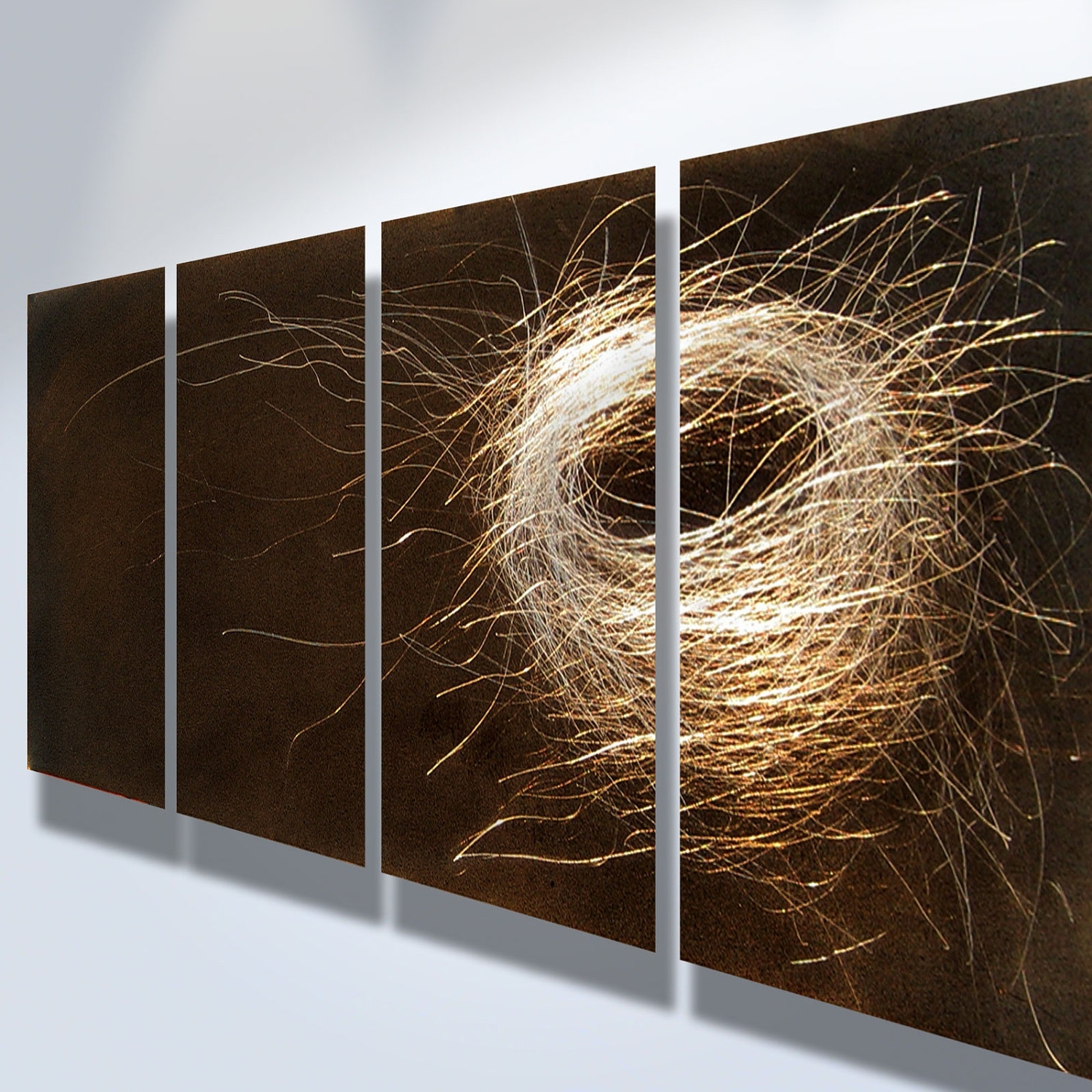 Widely Used Metal Art Wall Art Decor Abstract Contemporary Modern Sculpture Pertaining To Contemporary Metal Wall Art Sculpture (View 4 of 15)