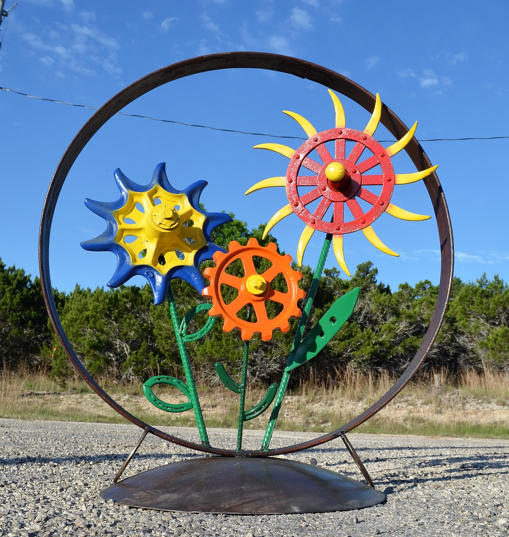 Widely Used Metal Sunflower Yard Art Intended For Yard Art – Sycamore Creek Creations (View 14 of 15)