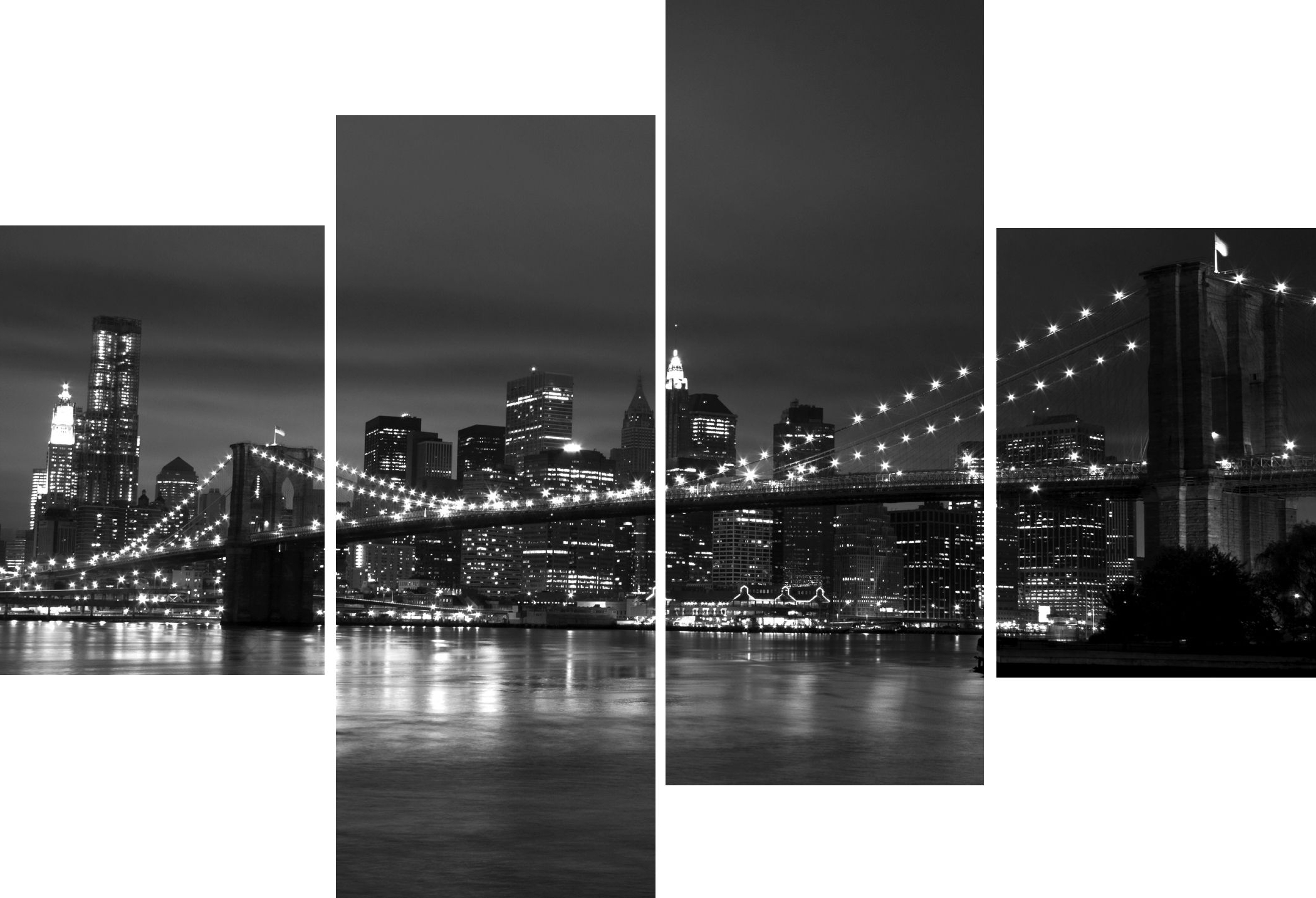 Widely Used New York City Wall Art With Wall Art Designs: New York Wall Art Large 4 Multi Panel Art Work (View 15 of 15)