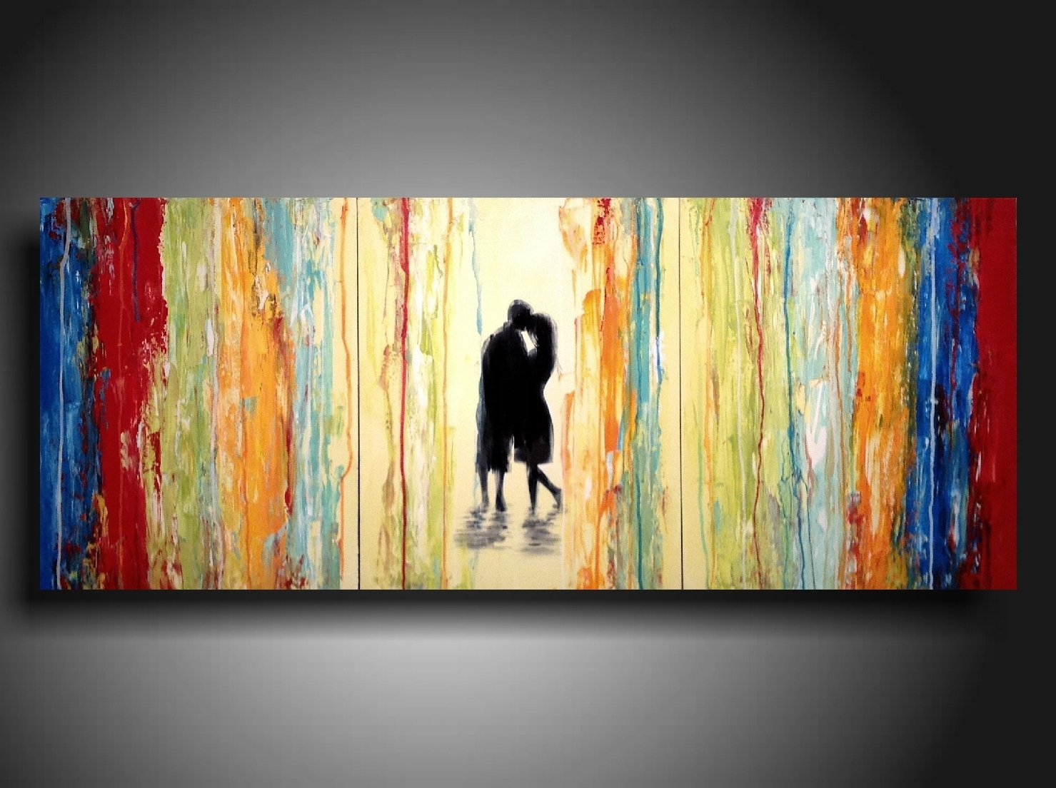 Widely Used Original Large Abstract Painting – 24 X 36 Inches By Artist In Long Abstract Wall Art (View 4 of 15)
