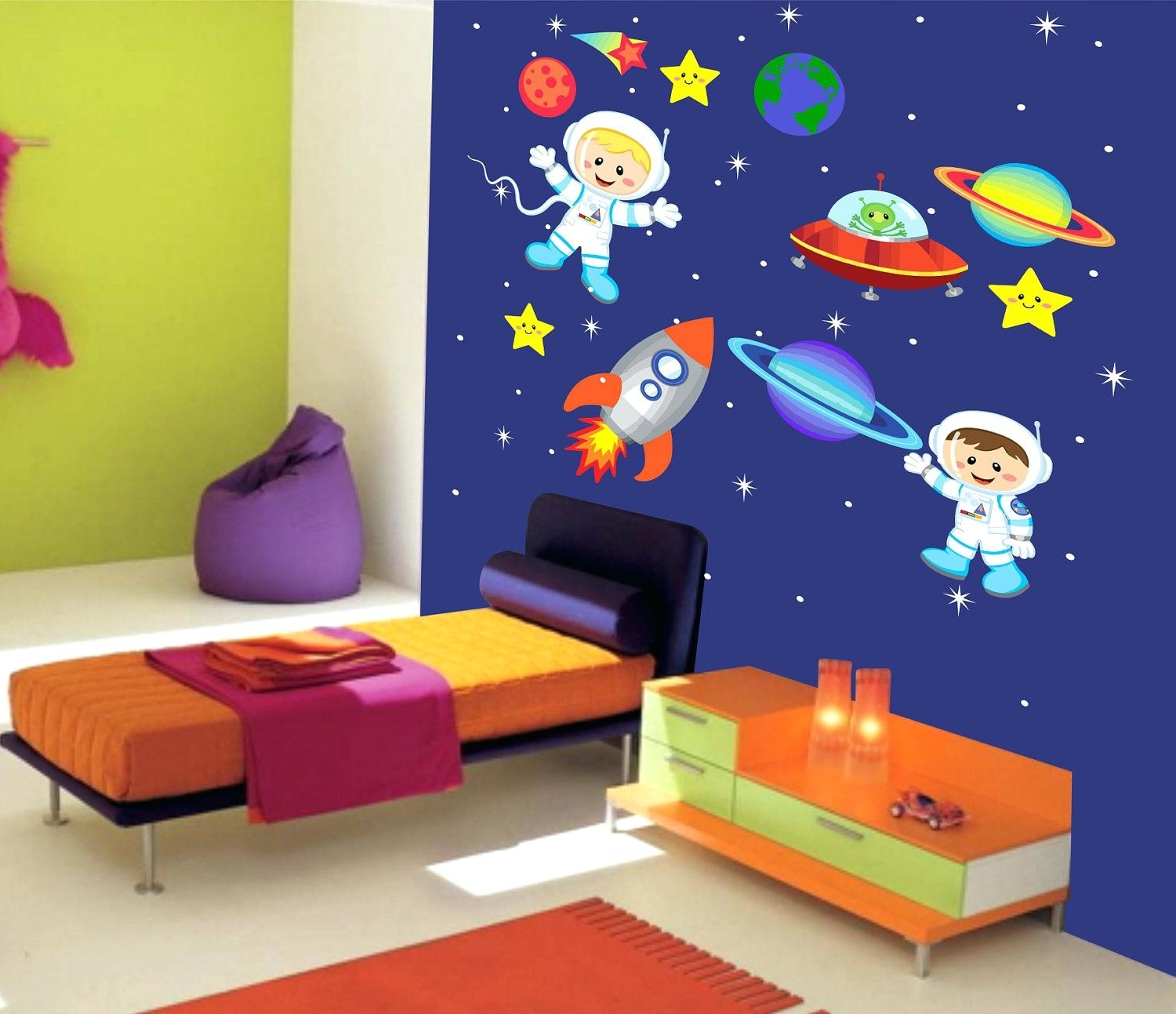 Widely Used Outer Space Wall Art With Regard To Butterfly Wall Decals For Kids Rooms Kids Room Wall Decal Ideas (View 15 of 15)