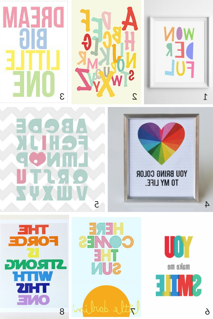 Widely Used Playroom Wall Art Inside 100 Free Nursery Printables That'll Look Good In Every Baby's Room (View 13 of 15)