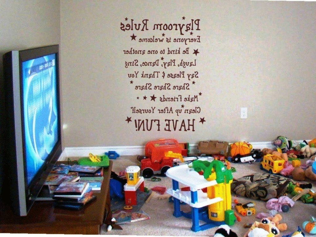 Widely Used Playroom Wall Art Pertaining To Extremely Inspiration Playroom Wall Art In Conjunction With (View 14 of 15)