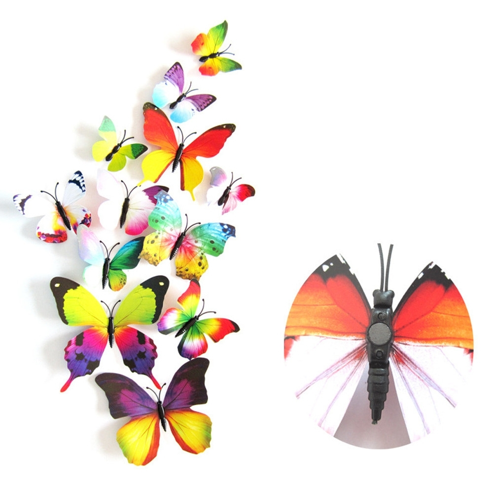 Widely Used Rainbow Butterfly Wall Art In ▻ Decor : 48 Butterfly Wall Decor Patterns Butterfly Wall Decals (View 14 of 15)