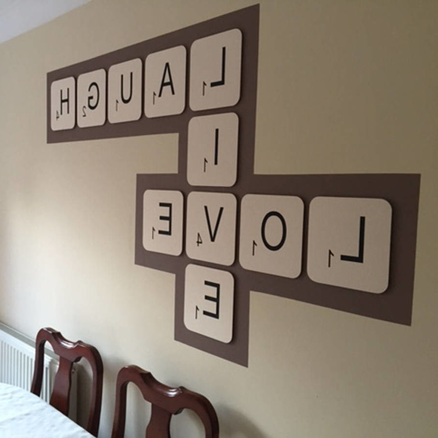 Widely Used Scrabble Letter Wall Art Pertaining To Scrabble Letters Home Decor (View 15 of 15)