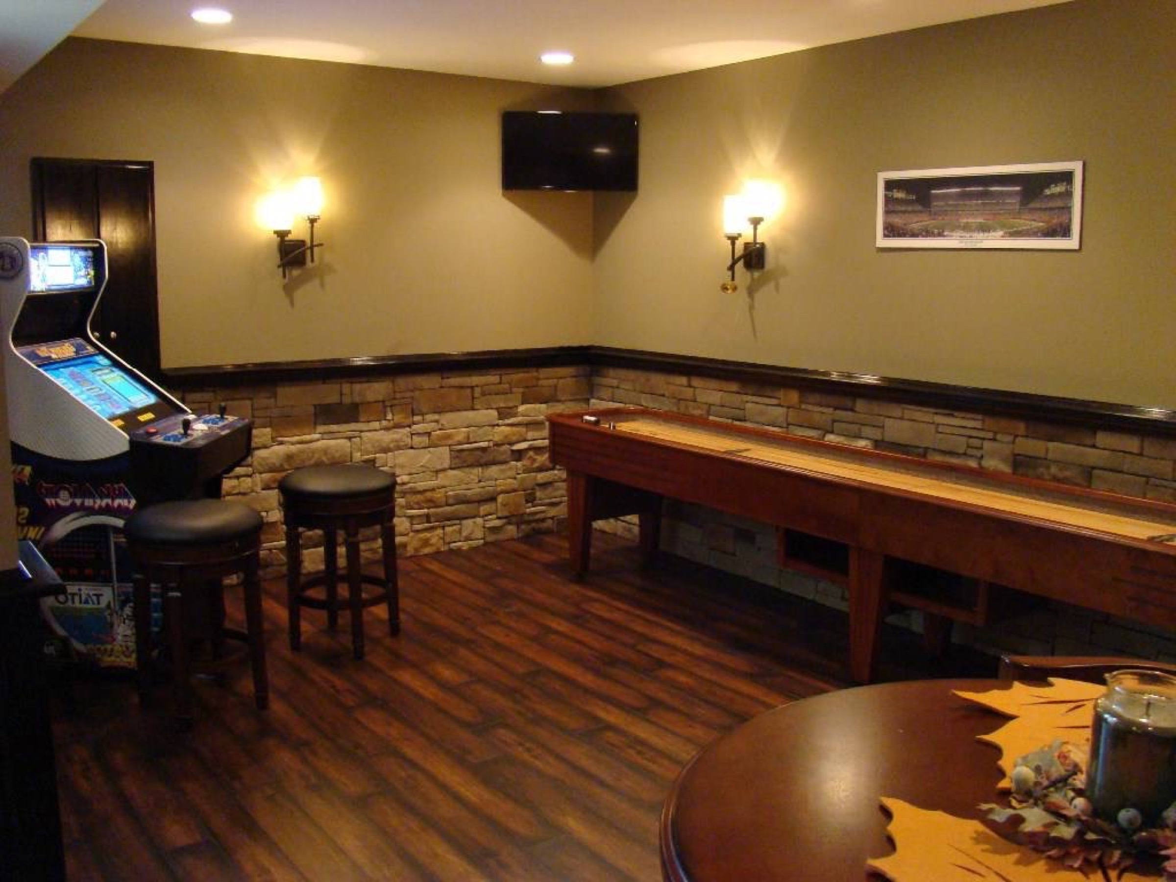 Widely Used Stacked Stone Wall Decorating Basement Finishing And Remodeling With Regard To Italian Stone Wall Art (View 15 of 15)