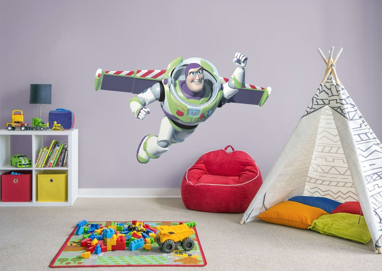Widely Used Toy Story Wall Stickers Intended For Buzz Lightyear Wall Decal (View 10 of 15)