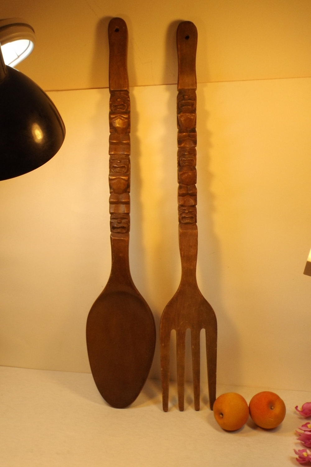 Widely Used Unique Wooden Wall Decoration Cutlery, Large Decorative Carved Intended For Oversized Cutlery Wall Art (View 15 of 15)