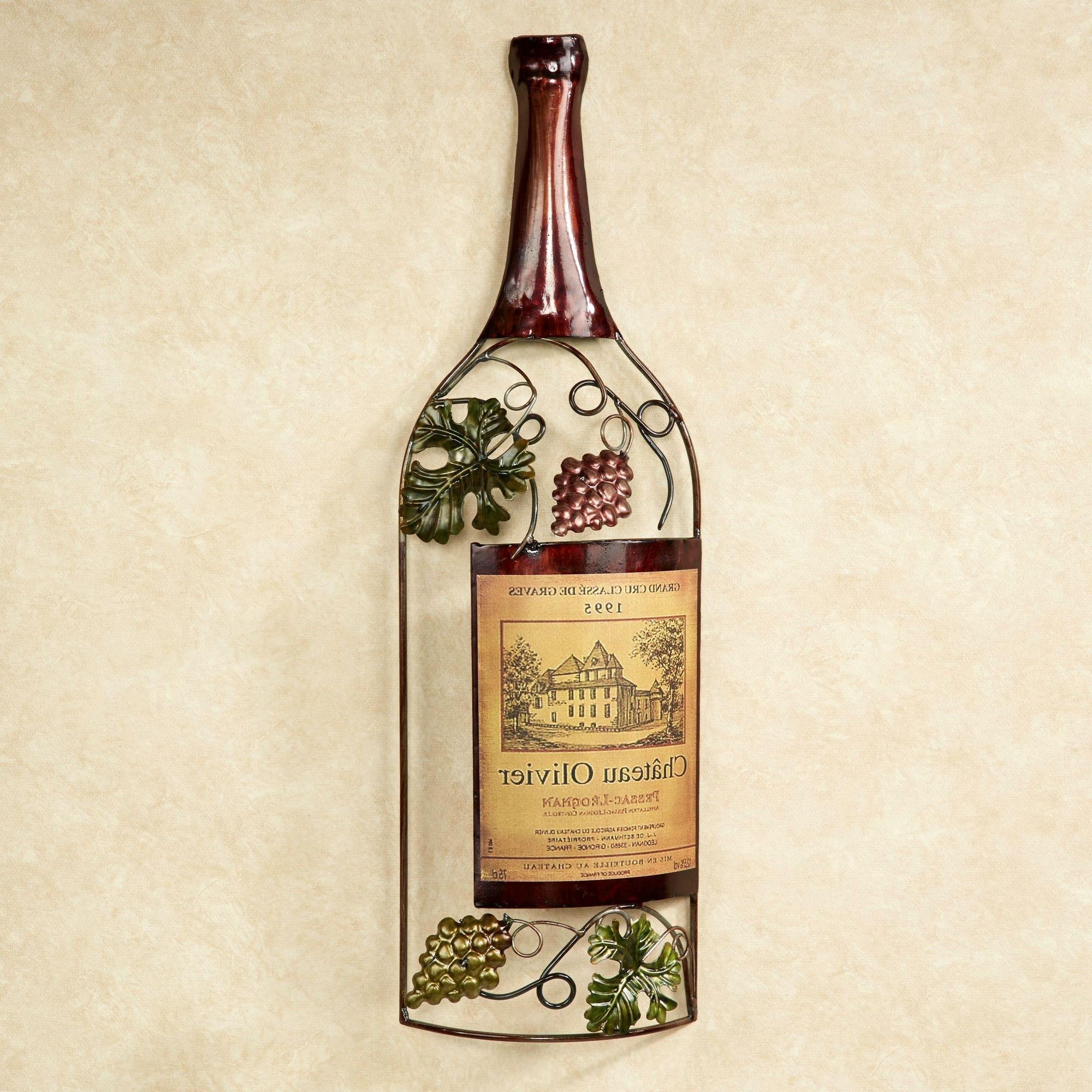 Widely Used Wall Art Design Ideas: Vineyards Metal Wine Bottle Wall Art Sample In Wine Metal Wall Art (View 5 of 15)