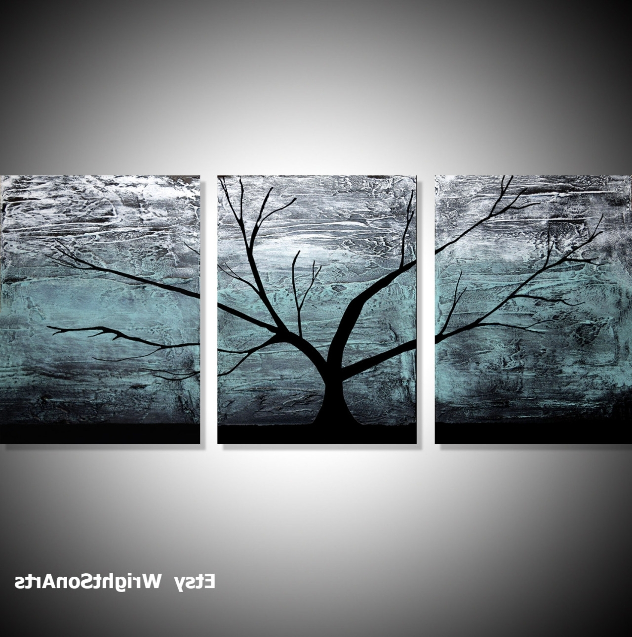 Widely Used Wall Art Designs: Large Wall Art Original Acrylic Paintings On With Regard To Large Triptych Wall Art (View 3 of 15)