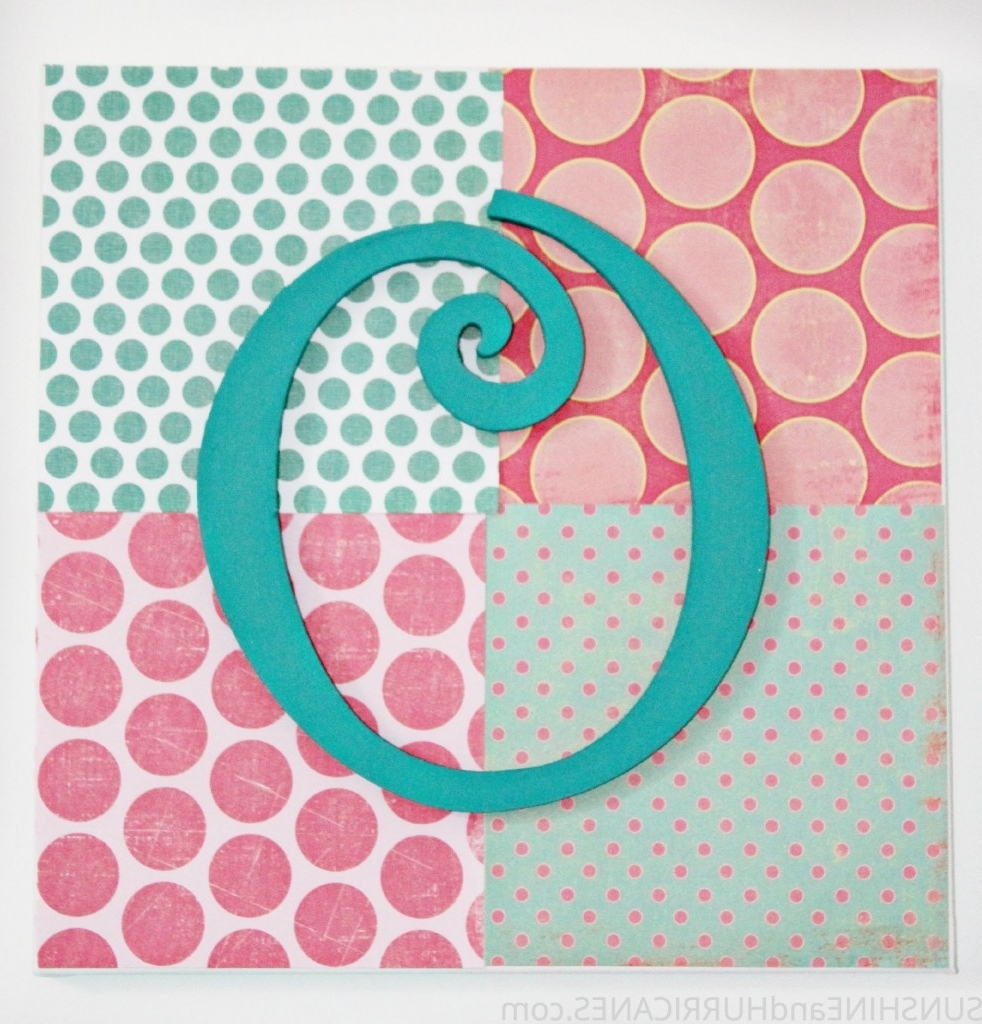 Widely Used Wall Art For Teenagers With Teen Craft: Monogram Wall Art (View 10 of 15)