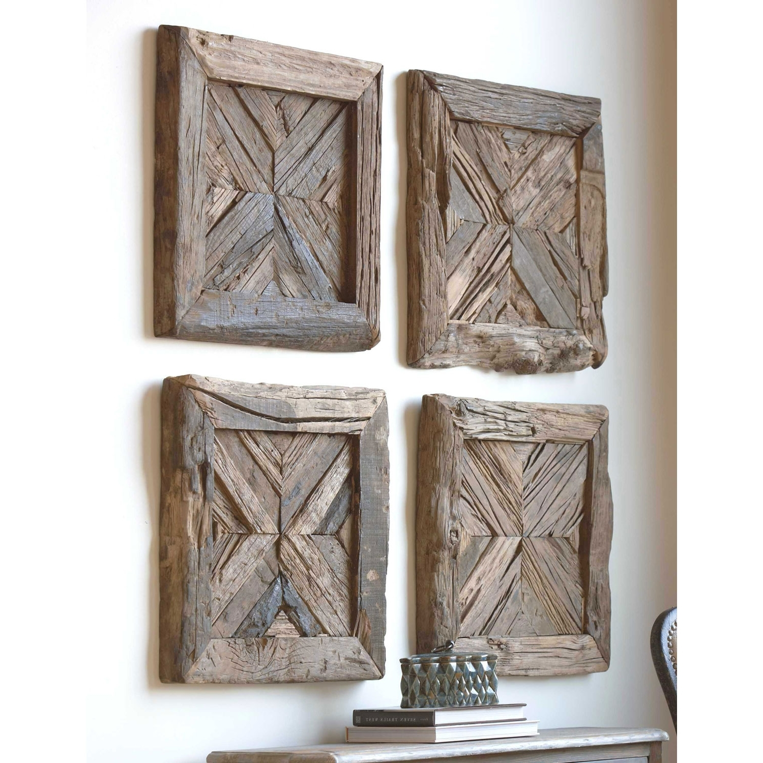 Widely Used Wall Art On Wood Regarding Rennick Rustic Wood Wall Art Uttermost Wall Sculpture Wall Decor (View 11 of 15)