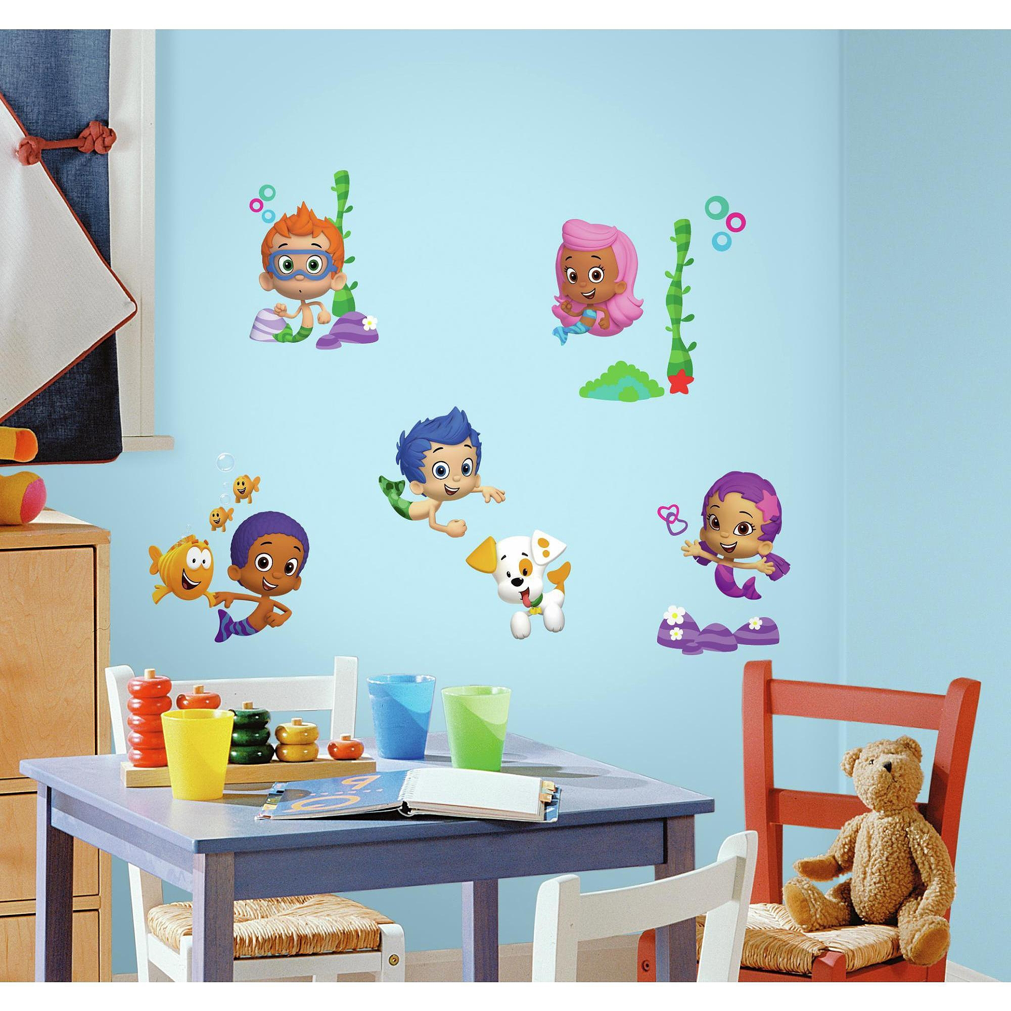 Widely Used Walmart Wall Stickers Regarding Bubble Guppies Peel And Stick Wall Decals – Walmart (View 15 of 15)