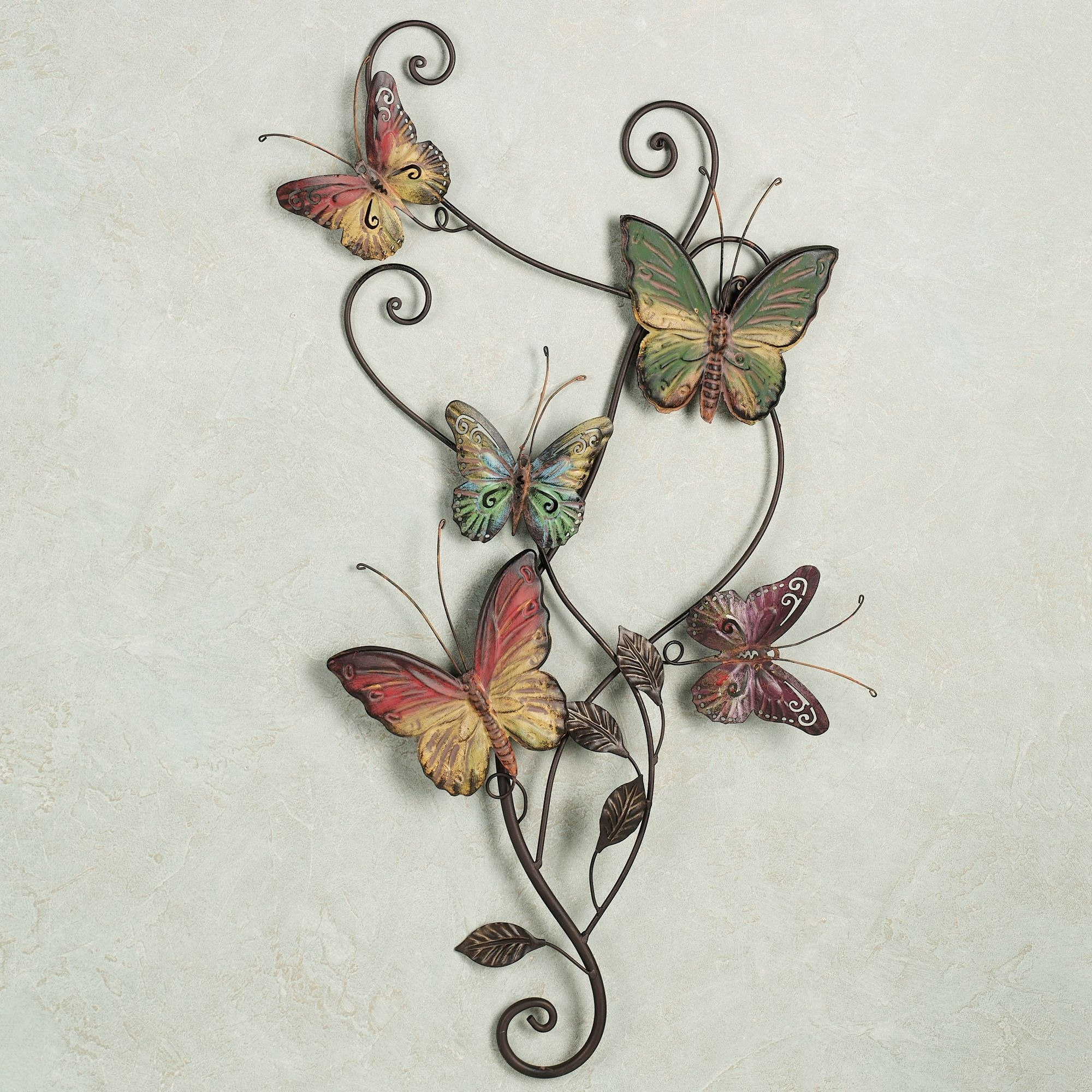 Widely Used White Metal Butterfly Wall Art Intended For White Metal Butterfly Wall Decor • Walls Decor (View 15 of 15)