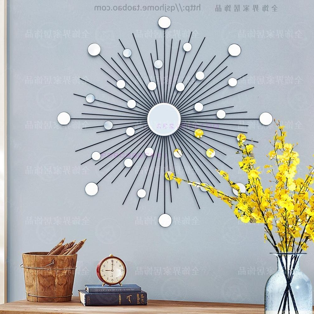Widely Used Wire Wall Art Decors Within Modern Mirror Wall Art Sunburst Metal Wall Art Wire Wall Mirror (View 10 of 15)