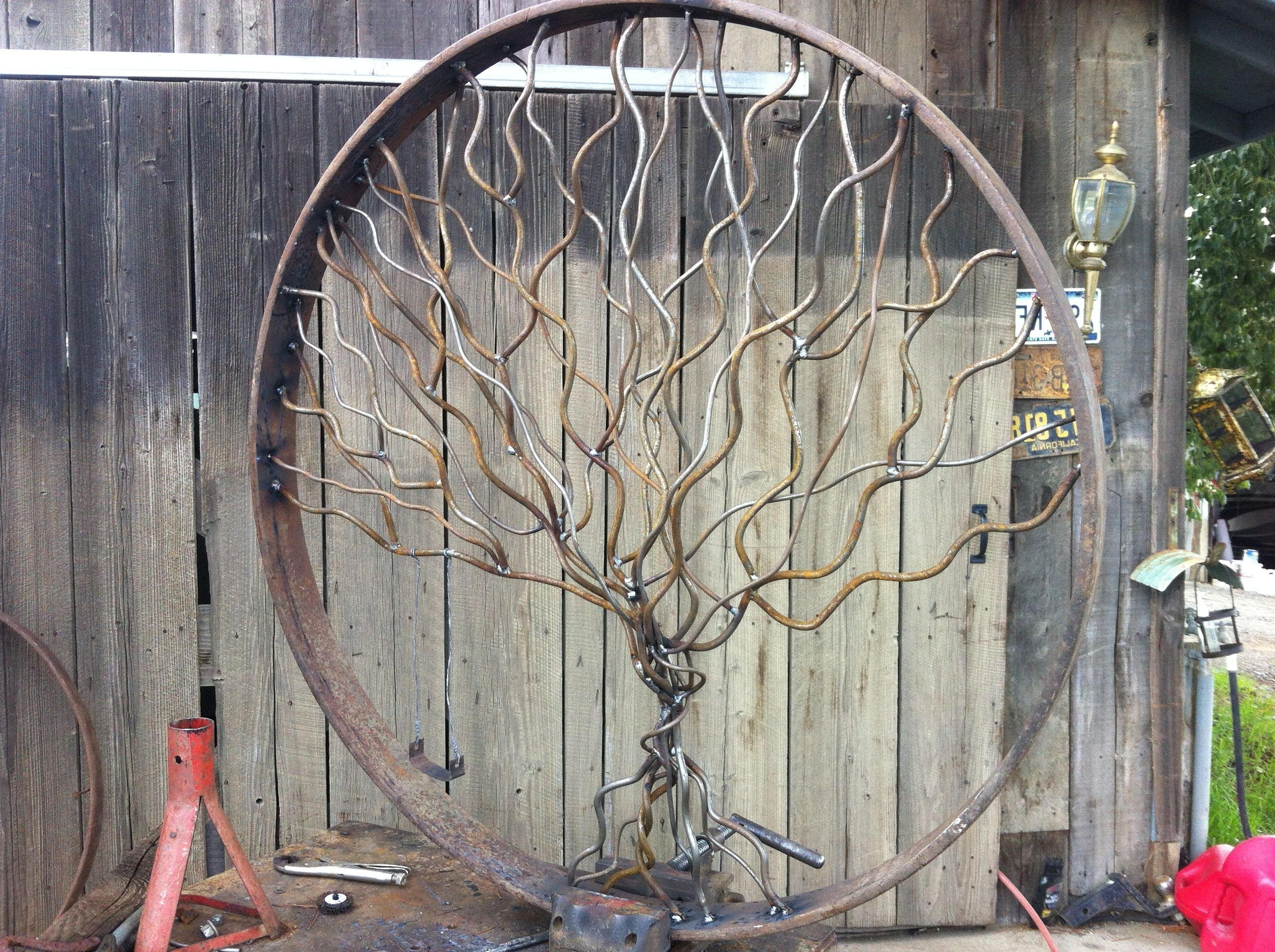 """Windy Oak Tree Metal Wall Art Pertaining To Widely Used Giant Oak Tree With Swing. Diameter Measures 44"""" (View 15 of 15)"""