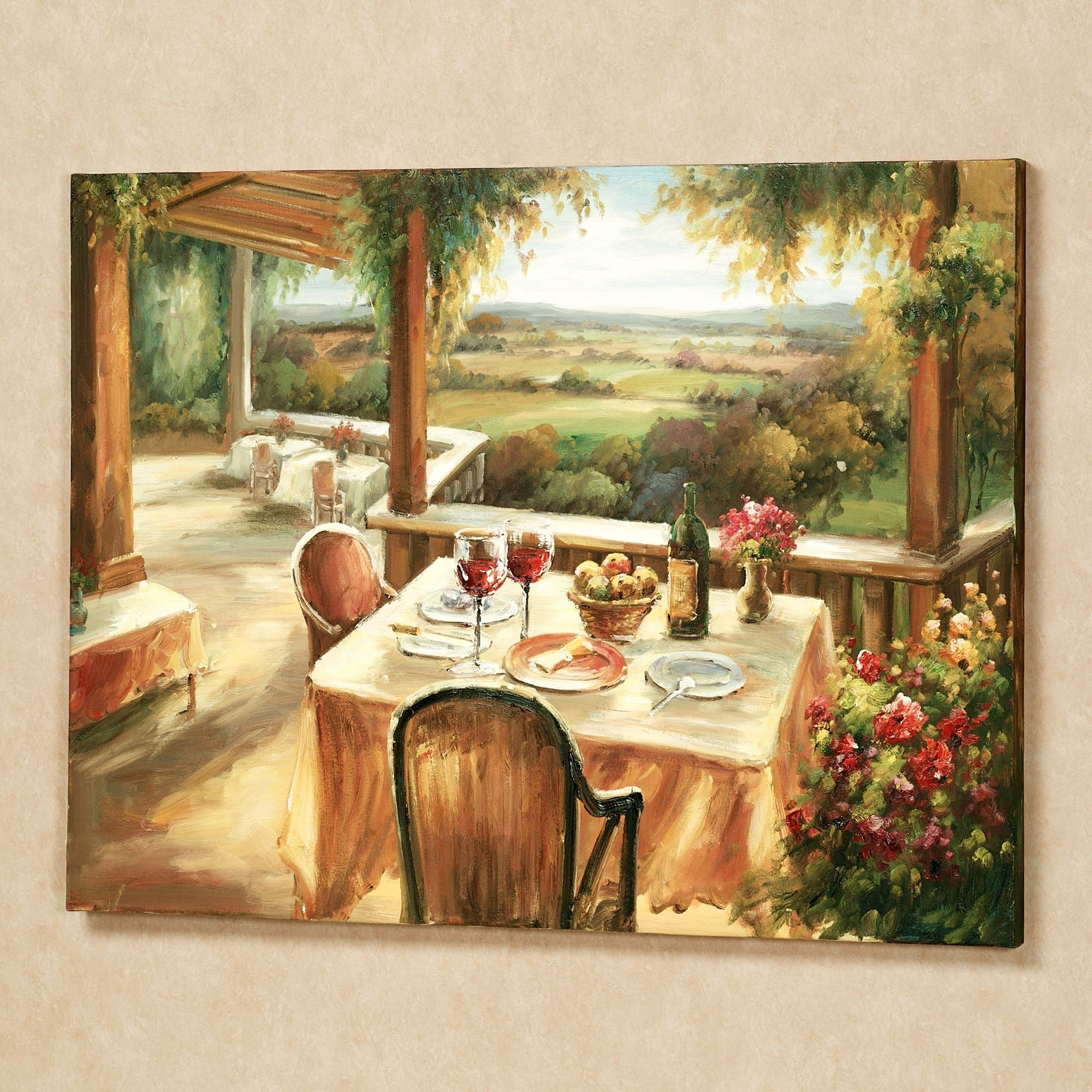Wine And Dine Canvas Wall Art Throughout Recent Tuscan Italian Canvas Wall Art (View 15 of 15)