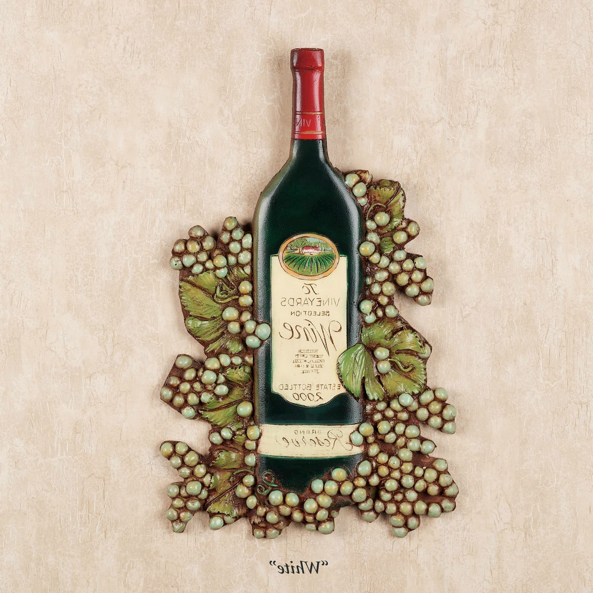 Wine Bottle Wall Plaque Within Most Current Italian Wine Wall Art (View 14 of 15)