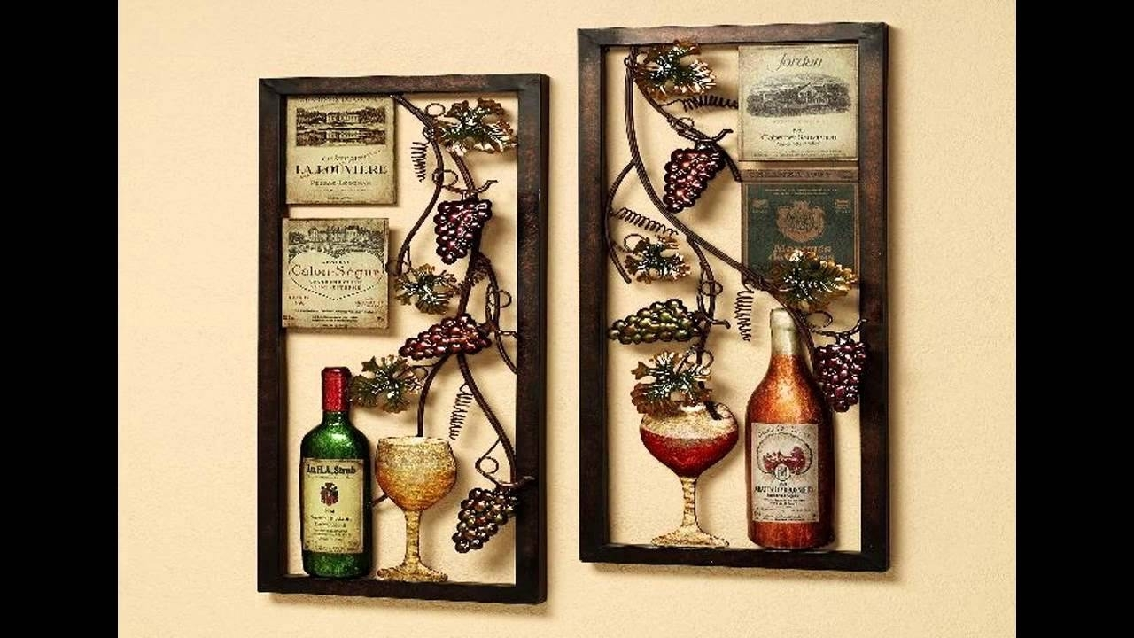 Wine Kitchen Decor Ideas – Youtube With Current Wine Theme Wall Art (View 10 of 15)