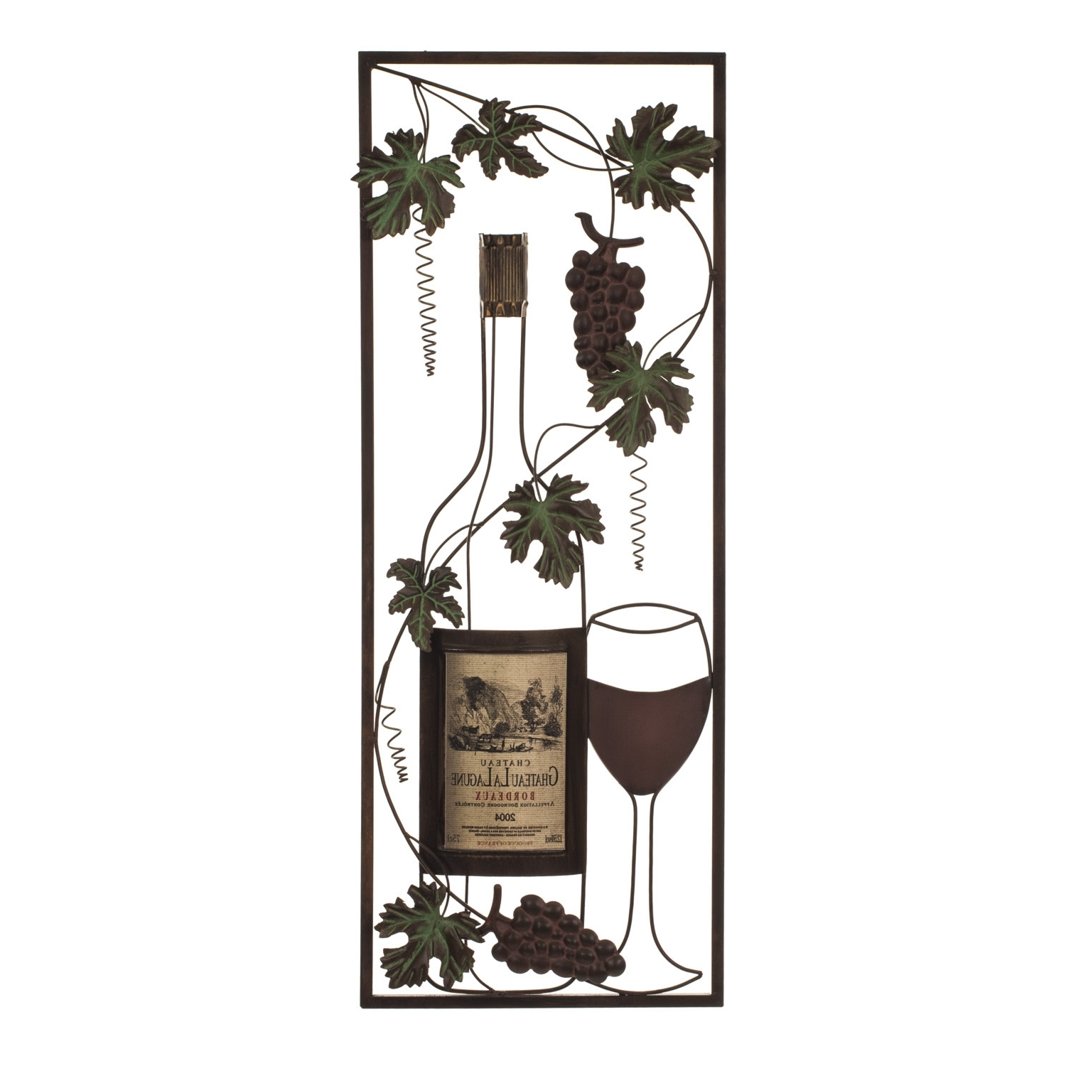 Wine Metal Wall Art Intended For Fashionable Vintage Wine Metal Wall Art (View 13 of 15)