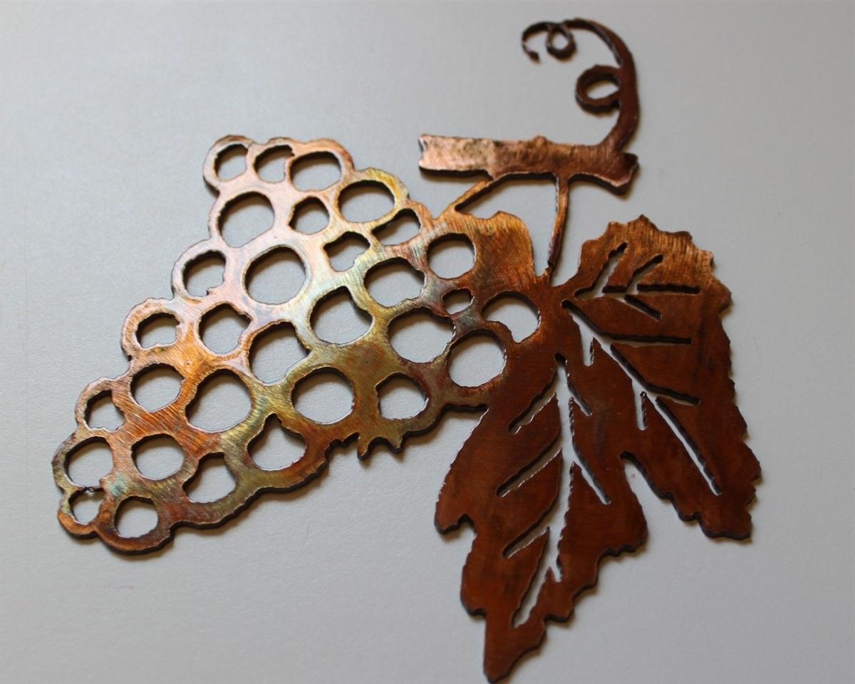Wine Metal Wall Art Within Preferred Metal Wall Art Decor Small Grape Bushel & Wine Sign (View 11 of 15)