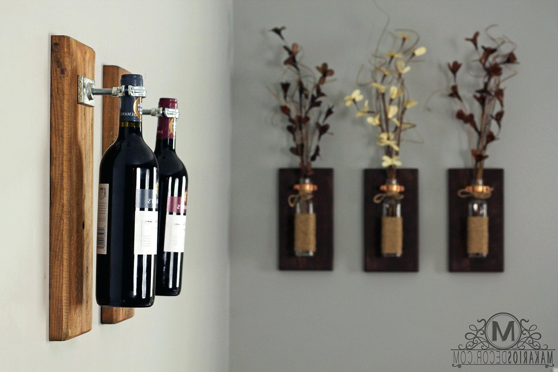Wine Themed Wall Art Throughout Latest Spiral Wine Rack Wine Wall Art Wine Bottle Sconce Wine Rack Wine (View 13 of 15)