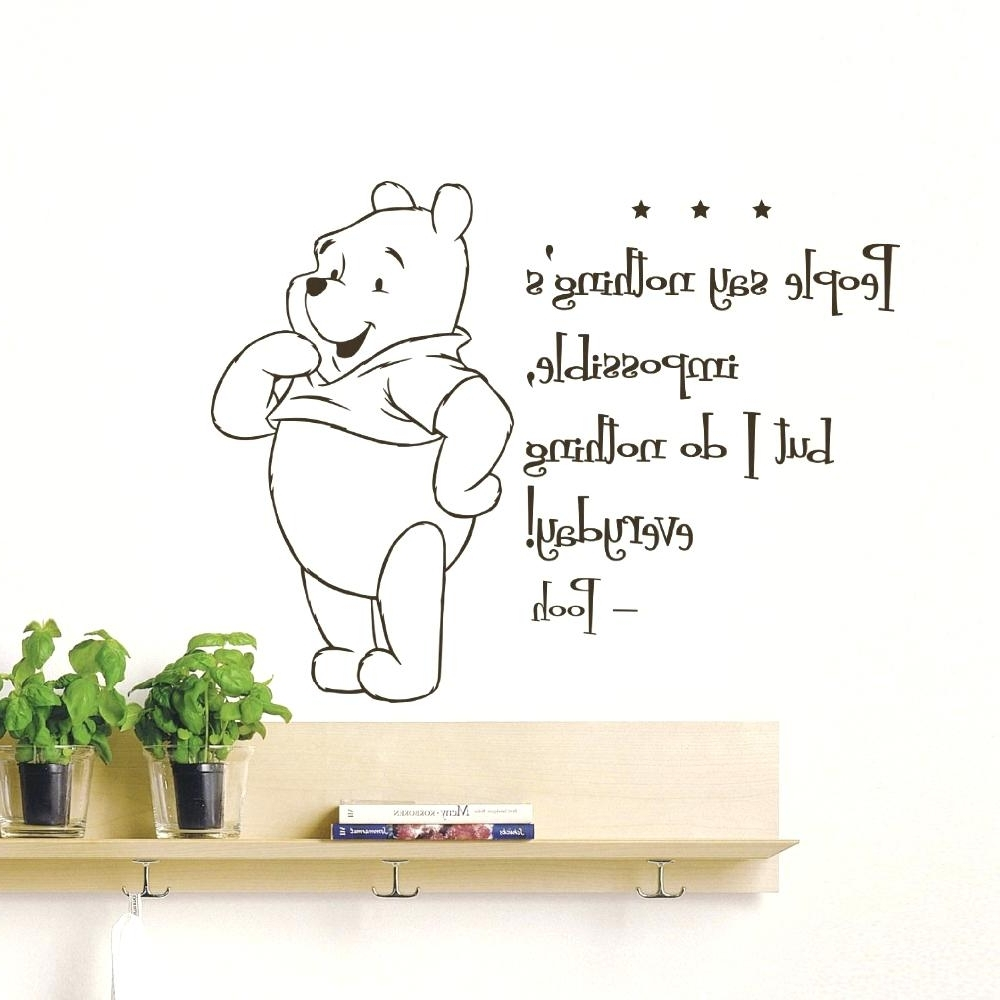 Winnie The Pooh Nursery Quotes Wall Art In Preferred Winnie The Pooh Nursery Wall Decals Inspirations The Pooh Nursery (View 13 of 15)
