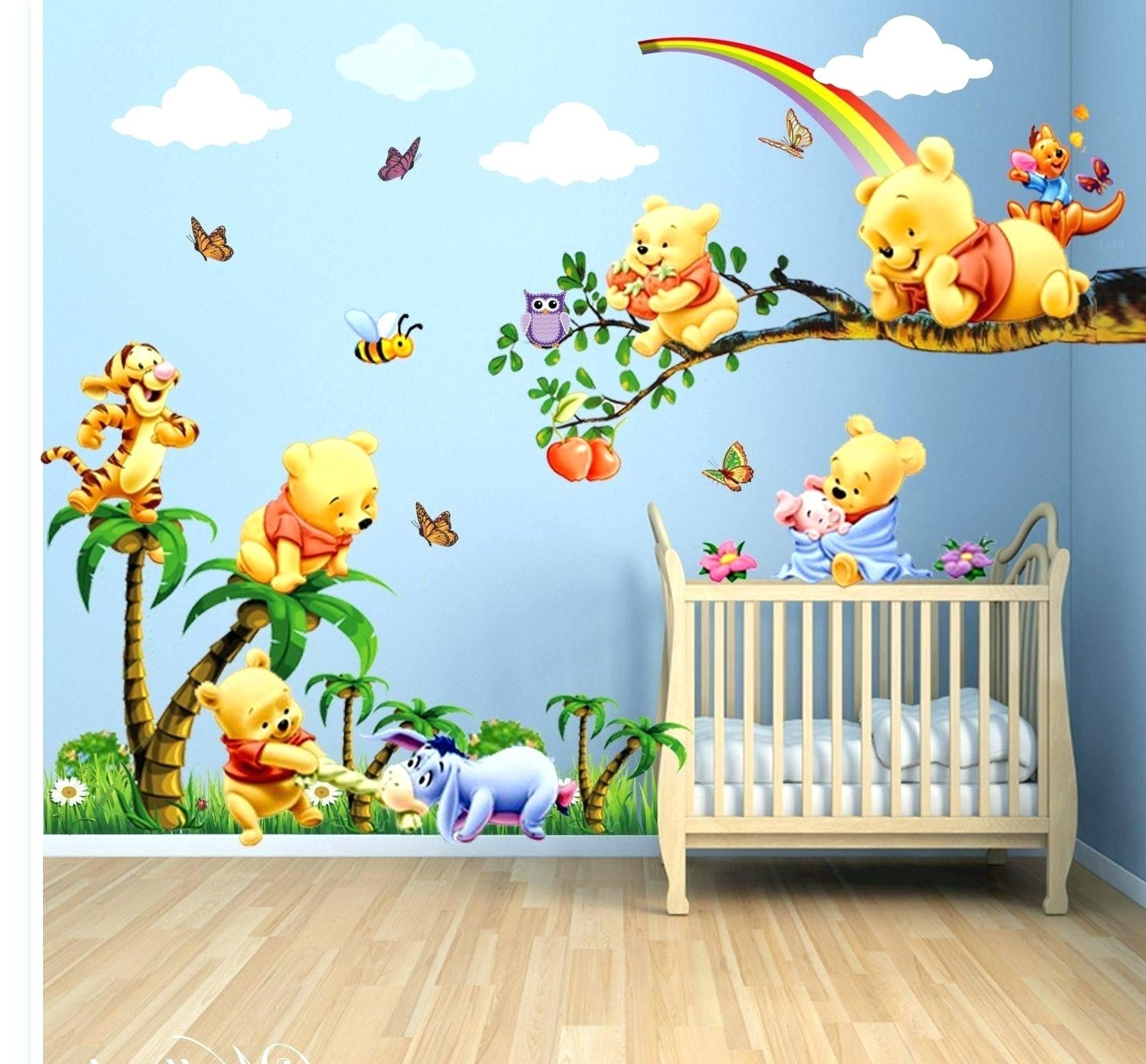 Winnie The Pooh Nursery Wall Decals Nursery Wall Decals For Your Pertaining To Current Winnie The Pooh Vinyl Wall Art (View 12 of 15)