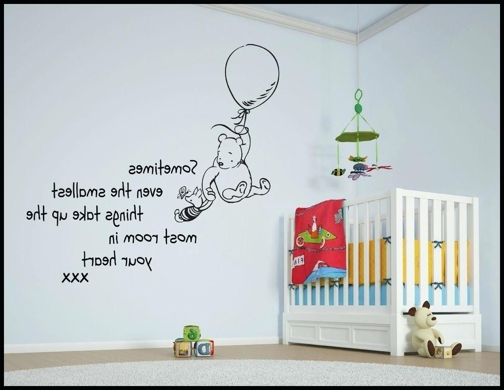 Winnie The Pooh Nursery Wall Decals The Pooh Piglet Tree Wall Intended For  Newest Winnie The