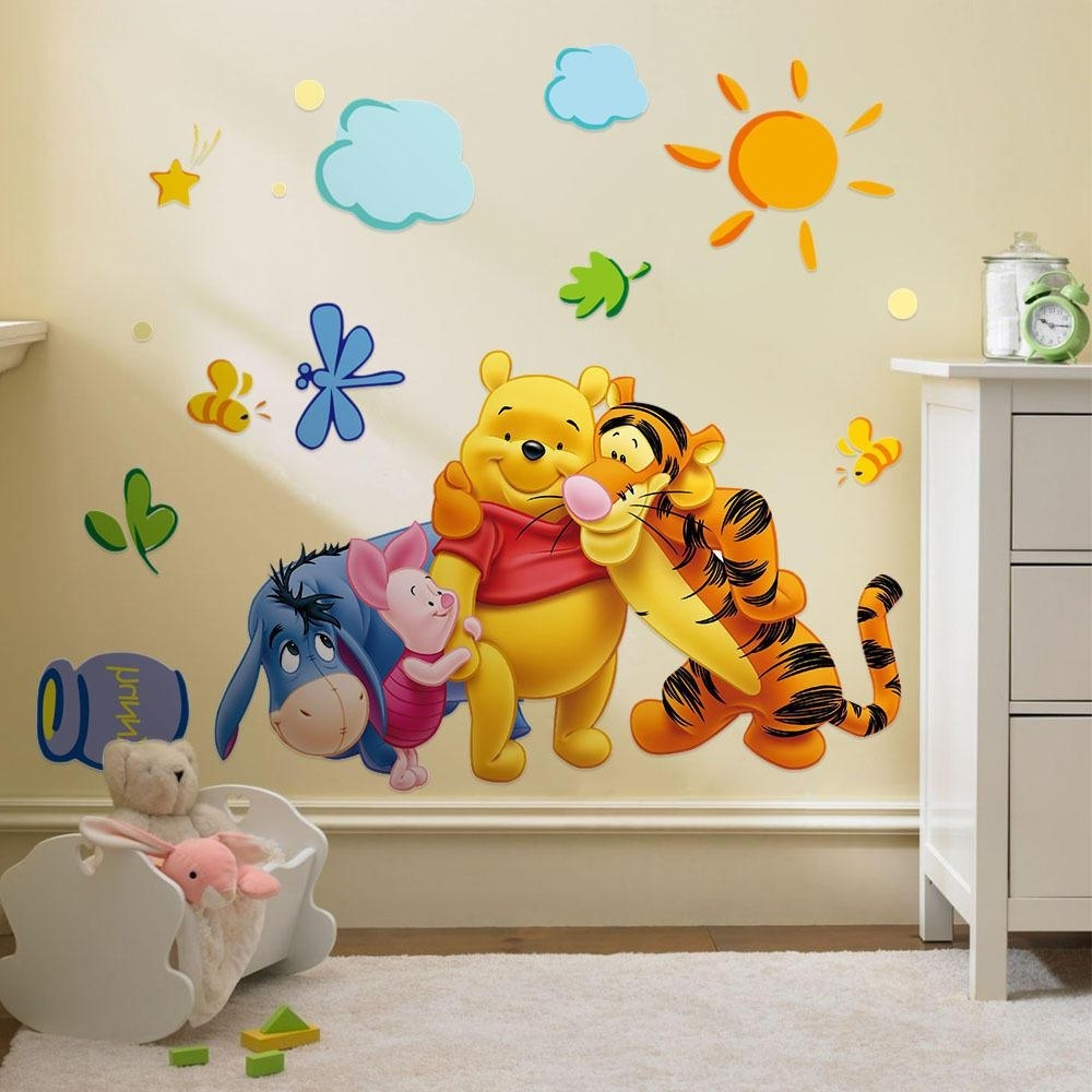 Winnie The Pooh Wall Art Regarding Most Current Classic Winnie The Pooh Wall Art Nursery — One Thousand Designs (View 12 of 15)