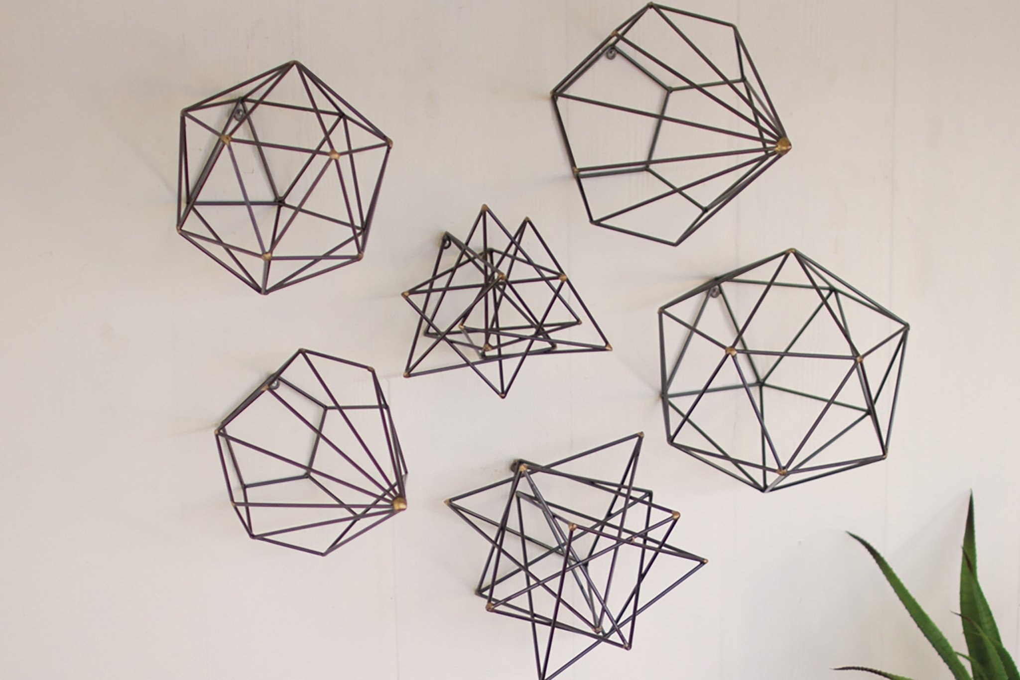Wire Wall Art Decors Inside Most Recent Geometric Metal Wall Art (View 11 of 15)