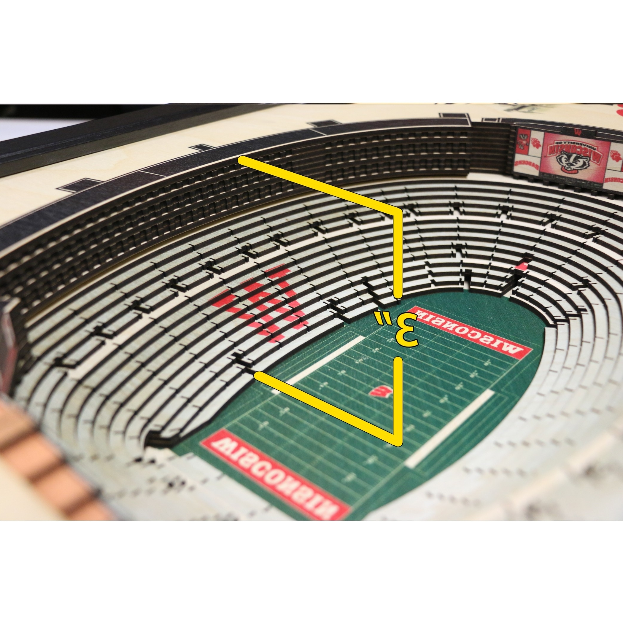 Wisconsin Badgers – Ncaa – Camp Randall Stadium 3D Wall Art With Preferred 3D Stadium View Wall Art (View 15 of 15)