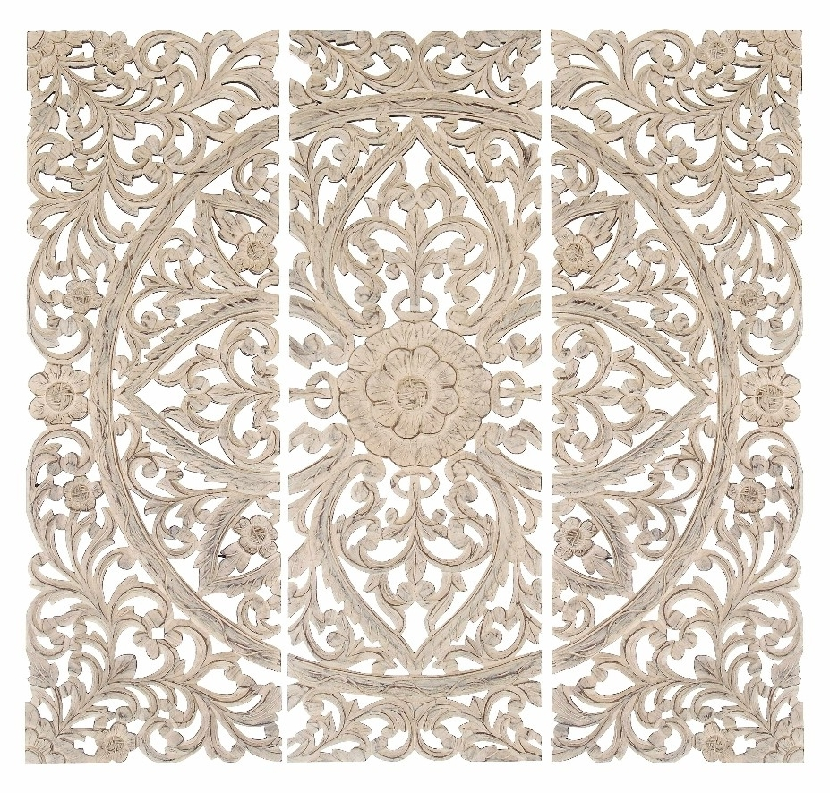 Wonderful Ideas Carved Wall Decor White Scroll Doors Round Antique Regarding Best And Newest White Wooden Wall Art (View 14 of 15)